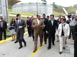 サンホセ首都圏環境改善計画・下水処理施設完成式典